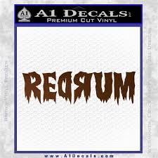 Redrum Decal Sticker The Shining A1 Decals
