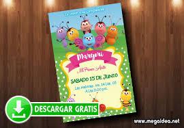 Invitacion De Cumpleanos Bichikids Gratis Mega Idea