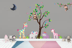 Nursery Wall Decals Girls Room Decals Girls Themed Decor Safari Nurserydecals4you