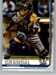Amazon.com: 2019 Topps Update (Series 3) #US224 Yasmani Grandal Milwaukee  Brewers Official Baseball Trading Card: Collectibles & Fine Art