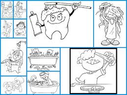 dibujos para colorear el aseo personal
