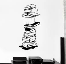 Wall Stickers Vinyl Decal Books Library Bookworm School Science Student Ig1592 For Sale Online