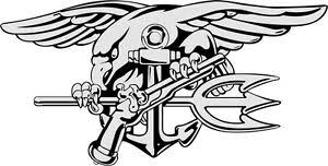 U S Navy Seals Logo Wall Window Vinyl Decal Sticker Military Ebay