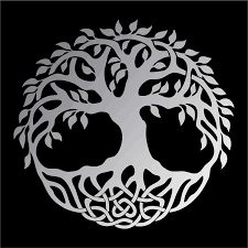 Amazon Com Celtic Tree Of Life Vinyl Window Sticker Decal Car Wall Irish Multiple Sizes And Colors Die Cut No Background Silver Matte 5 Tall Kitchen Dining