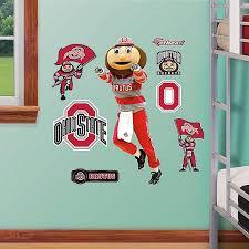 Fathead Ohio State University Brutus Buckeye Mascot Junior Wall Graphic Bed Bath Beyond
