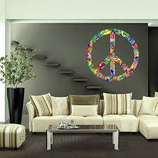 Shop Full Color Colorful Peace Symbol Sign Full Color Wall Decal Sticker Sticker Decal 22x22 Overstock 15266300