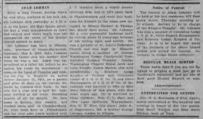 John Adam Lohman Obituary and Funeral Notice - Newspapers.com