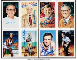 Signed Basketball Hall of Fame Postcards, Lot of 8. Offered are | LotID  #26001 | Heritage Auctions
