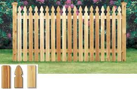 Simsbury Cedar Fence French Gothic Spaced Picket Pre Built Sections Fence Material