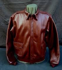 a 2 horsehide leather flight jacket j a