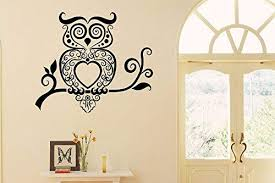 Amazon Com Pretty Owl On Branch Quote Wall Sticker Quote Decal Wall Art Decor G5744 Home Kitchen