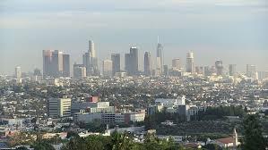 los angeles downtown skyline urban