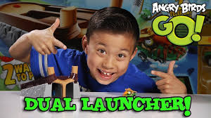 Angry Birds GO! DUAL LAUNCHER Set & STUNT GAMEPLAY! - YouTube
