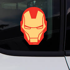 Marvel Avengers Iron Man Face Car Window Decal Sticker