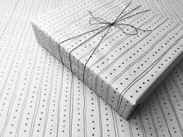 lines on white gothic wrapping paper