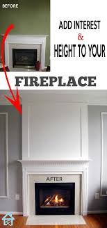 height to your fireplace