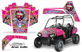 Polaris Rzr 170 Utv Wrap Ed Hardy Love Kills Pink