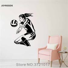 Joyreside Volleyball Player Wall Sports Decal Vinyl Sticker Home Decor Bedroom Living Room Playroom Interior Art Decoration A057 Wall Stickers Aliexpress