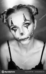 creepy clown makeup looking