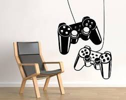 Muur Sticker Video Gamer Muur Sticker Controllers Ps4 Gaming Gaming Controllers Wall Art Boys Kids Ro Girls Room Wall Art Wall Decals Video Game Wall Art