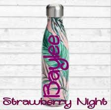 Monogram Vinyl Decal For Your Tumbler Water Bottle Cups Personalized Name Decal