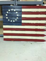 American Flag Made From Old Picket Fence Stars Patterns May Vary 95 00 Star Patterns American Flag Floor Cloth