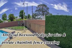 Artificial Hedges To Cover Ugly Chainlink Fence Sunwing Artificial Hedge