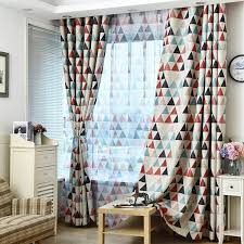 Multicolor Triangle Pattern Blackout Curtains For Children Kids Bedroom Geometric Decoration Window Drapes 1 Pcs Wish
