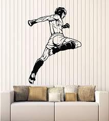 Amazon Com Designtorefine Vinyl Wall Decal Mma Battle Of Warriors Mixed Martial Arts Fight Club Stickers Mural Large Decor G1119 Black Home Kitchen