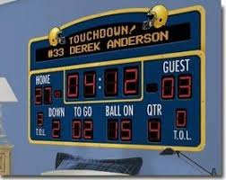 Sports Scoreboard Wall Decals Peel Stick Scoreboard Stickers