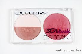 la colors 3d blush contour palette