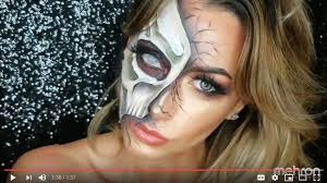 half face zombie makeup tutorial mehron