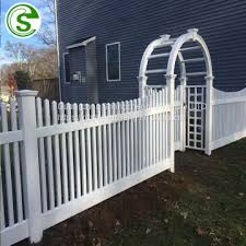 lawn white picket fence garden edging