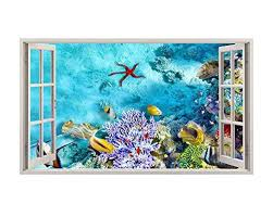 A202 Aquarium Fish Tank Coral Wall Decal Buy Online In French Polynesia At Desertcart