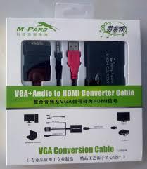 Cáp chuyển đổi VGA to HDMI + audio M-Pard MD008 loại tốt - chodocu.com