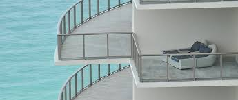 glass barade glass staircase