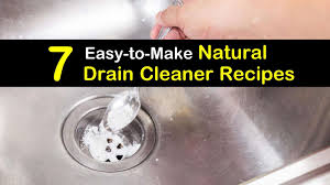 7 easy to make drain cleaner recipes