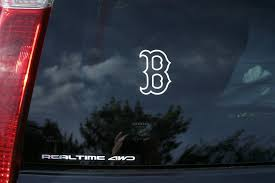 Boston Red Sox B Die Cut Vinyl Decal Sticker Single Etsy