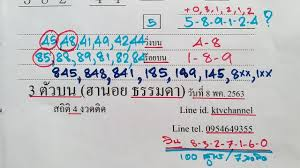 3 ตัวบน เน้นๆ เจาะ ฮานอย (ธรรมดา) ต่อไป วันที่ 8 พฤษภาคม 2563 ...
