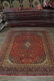 vintage red kashan persian rug oriental