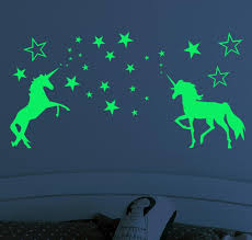Best Discount 4a2759 1set New Glow In The Dark Toys Wall Stickers For Kids Baby Bedroom Ceiling Home Decor Luminous Stars Unicorn Wall Stickers Gift Cicig Co