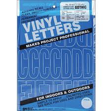 Shop Duro Gothic Blue Permanent Adhesive Vinyl Letters And Numbers Overstock 5748866