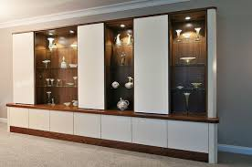 living room built display cabinets