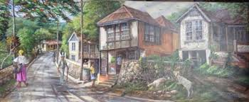 Brown's Town, St. Ann Painting by Webster Campbell | Artmajeur