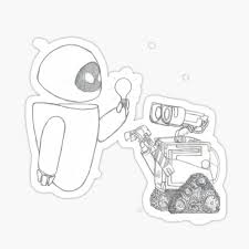 Wall E Eve Stickers Redbubble