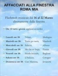 Coronavirus, ecco il calendario dei flashmob dal 16 al 22 marzo ...