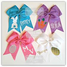 personalized easter cheer bows