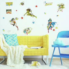 Wonder Woman Cartoon Peel And Stick Wall Decals Roommates Decor