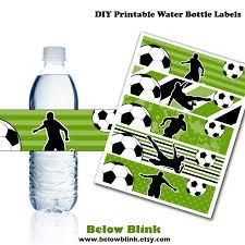 Soccer Water Bottle Labels Printable Water Bottle Labels Soccer