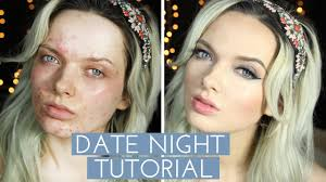 acne coverage date night make up